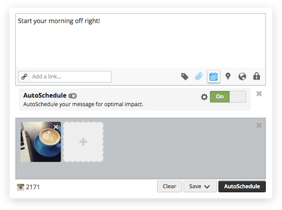 hootsuite auto scheduling screenshot in the best pr tools list by mediatoolkit